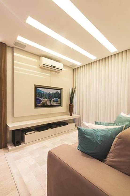 Rebaixamento de gesso para sala de estar
