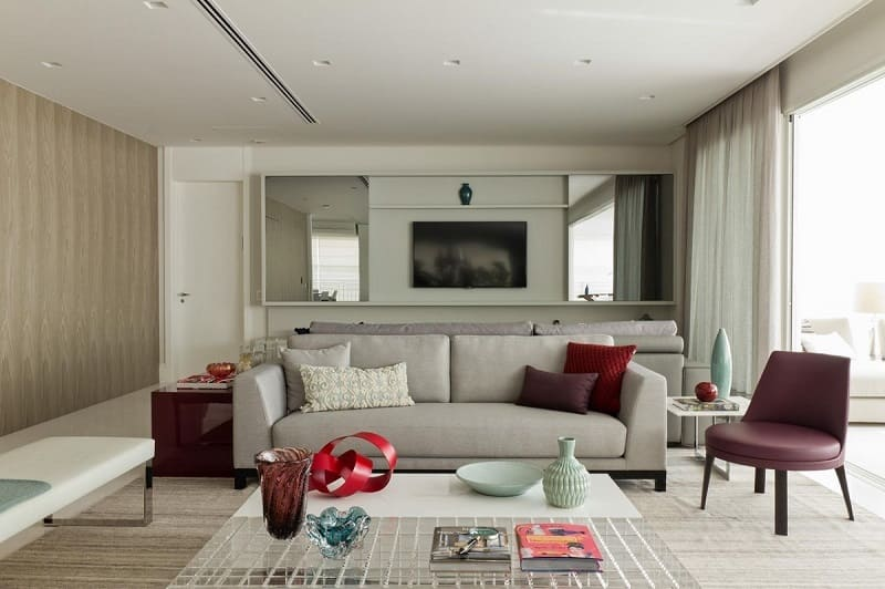 rebaixamento de gesso sala de estar com luz marilia veiga 3900
