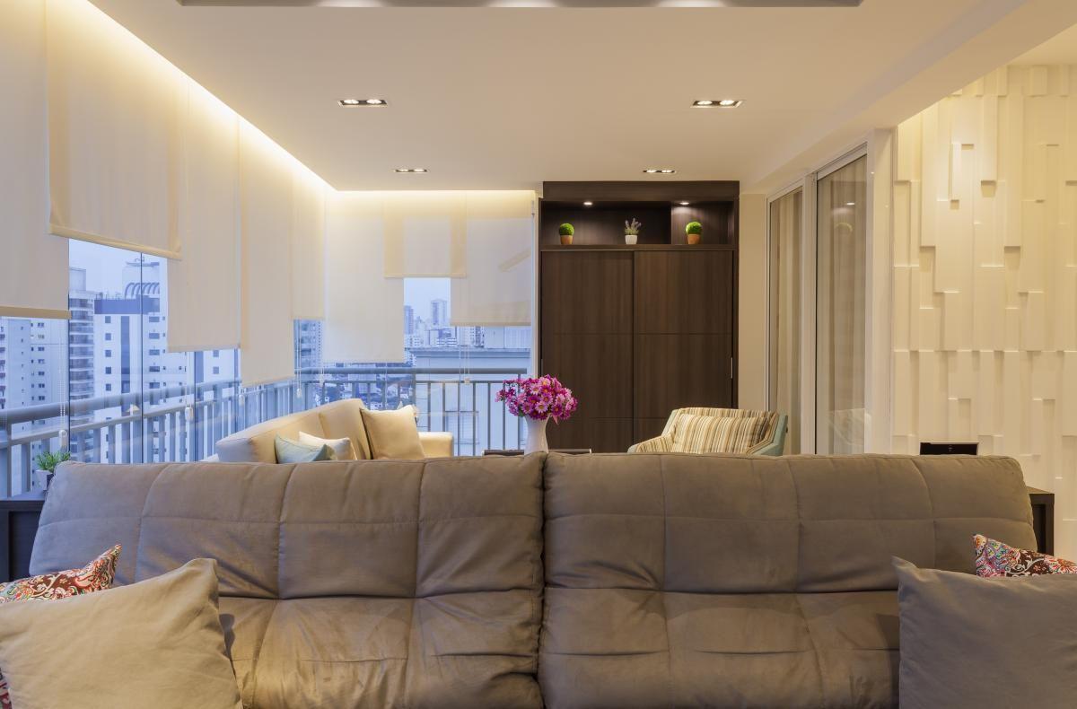 rebaixamento de gesso sala de estar integrada raduan arquitetura 100116