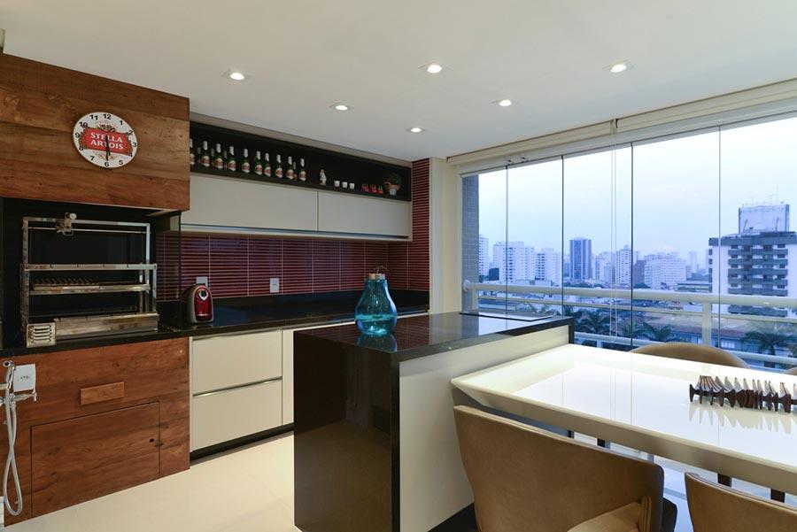 Área de churrasco gourmet para apartamento