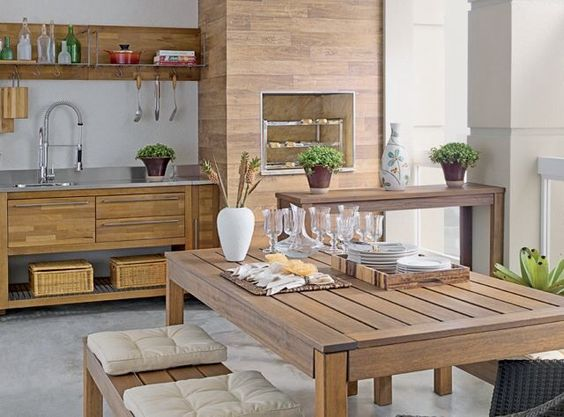 Área de churrasco para residencia