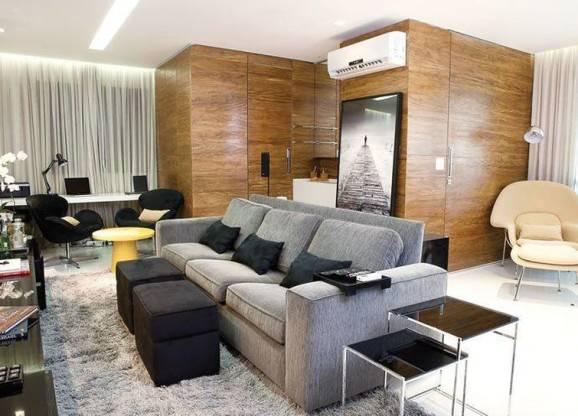 modelos de sofás cinza