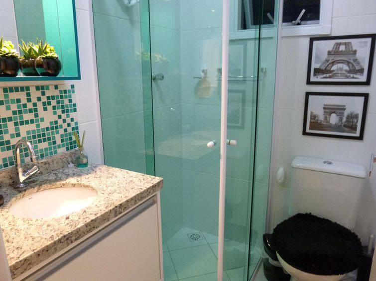 Banheiros Decorados com Pastilhas são a Nova Moda -> Banheiro Decorado Com Pastilhas Marrom