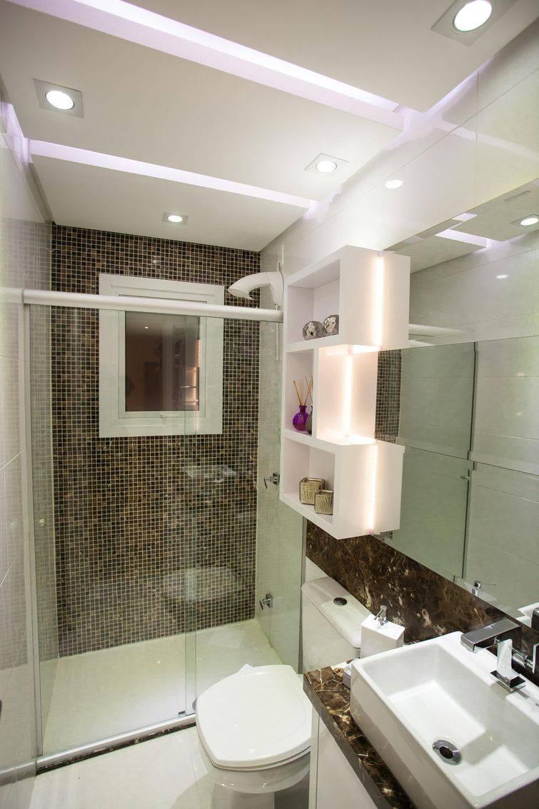 Decoração de banheiros com pastilhas para a sua casa -> Banheiro Decorado Com Pastilhas Marrom