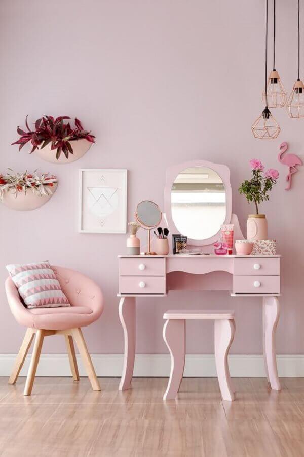 Penteadeira rosa infantil