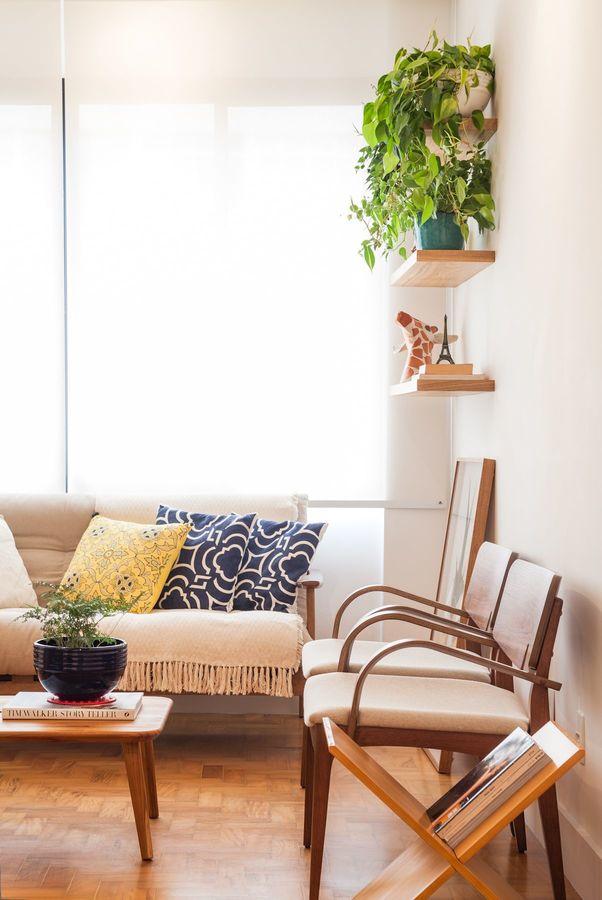 Plantas para apartamento - almofadas geométricas