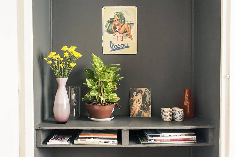 Plantas para apartamento - itens decorativos em prateleira com plantas