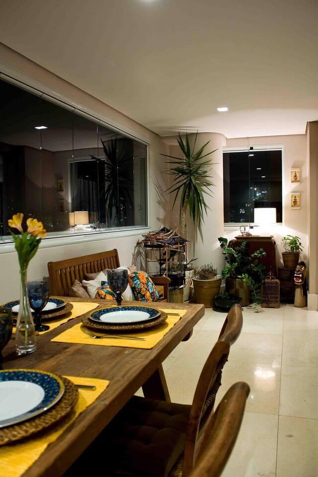 Plantas para apartamento - varanda gourmet com plantas