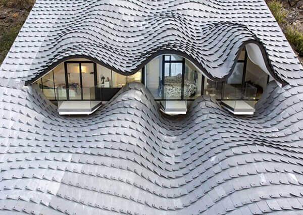 Telhas de zinco fachada
