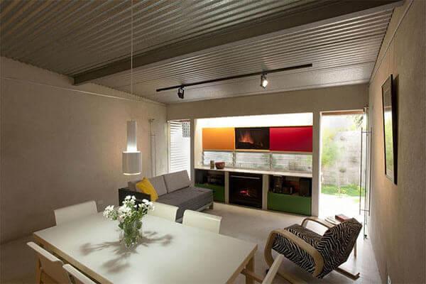 Telhas de zinco para decoração em ambiente interno
