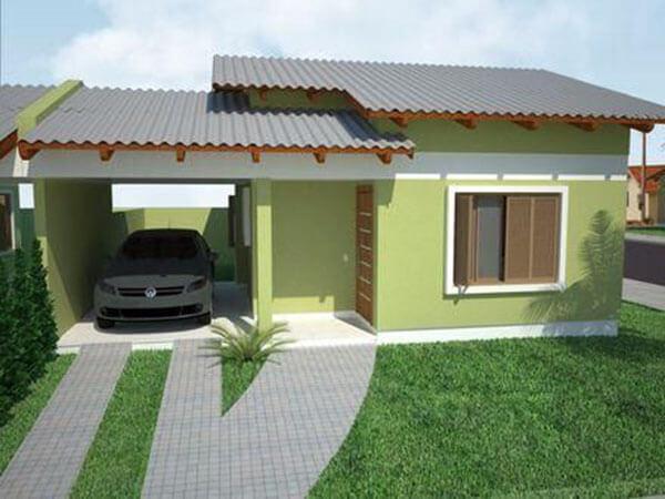Telhas de zinco projeto de casa