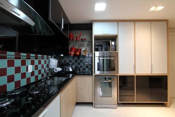 azulejo xadrez para cozinha
