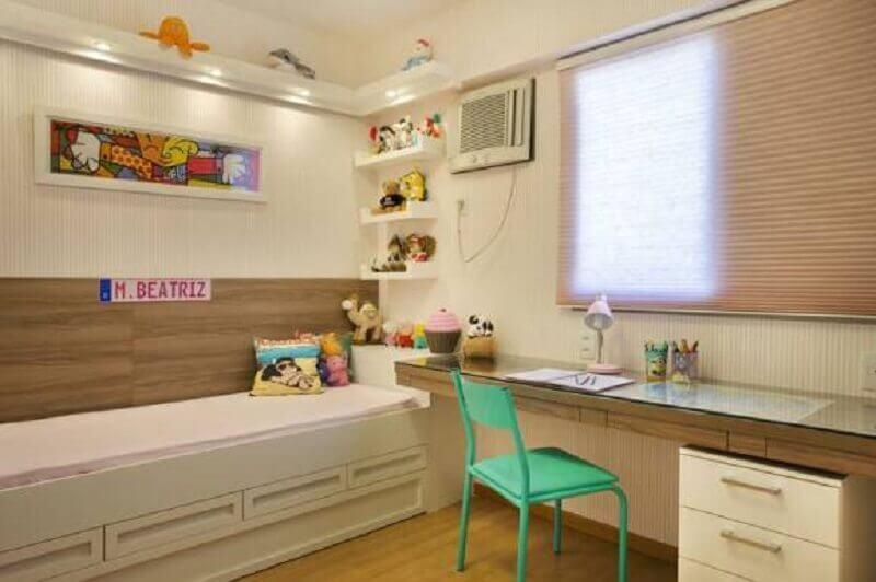 bancada de madeira para quarto de solteiro Foto Lorrels