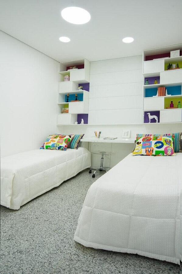 bancada para quarto de solteiro duplo Foto Eduarda Corrêa
