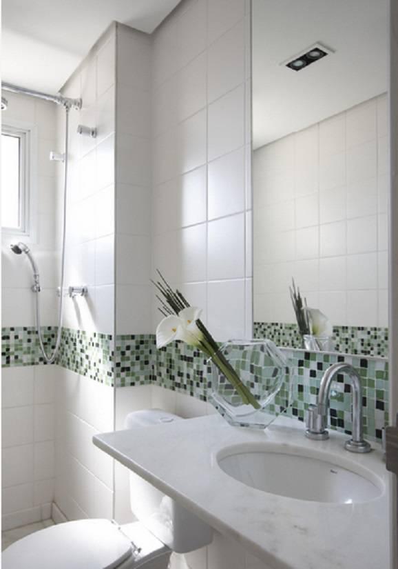 Banheiros com pastilha, modelos apaixonantes -> Banheiro Com Azulejo Pastilha