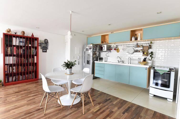 Cozinha americana com sala, integração sem problemas