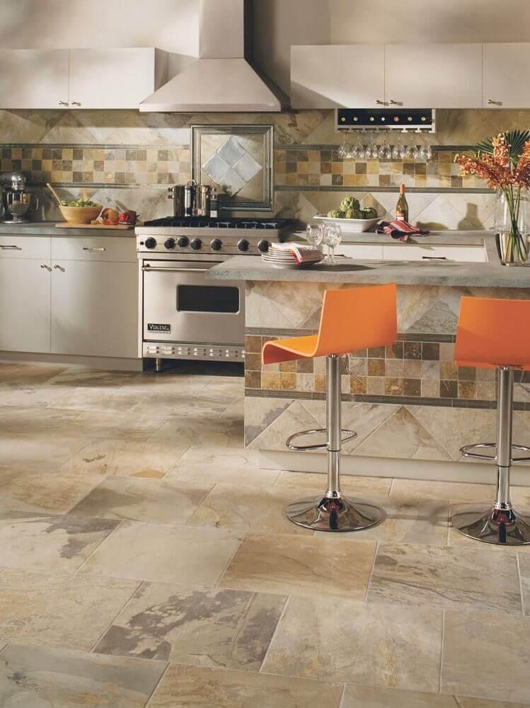 cozinha decorada com azulejo