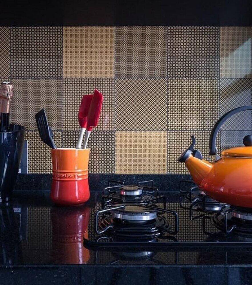 cozinha retrô com azulejo para cozinha