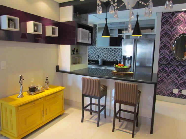 Sala Pequena Com Cozinha Americana ~ As cozinhas americanas pequenas ficam mais organizadas, e ganham mais