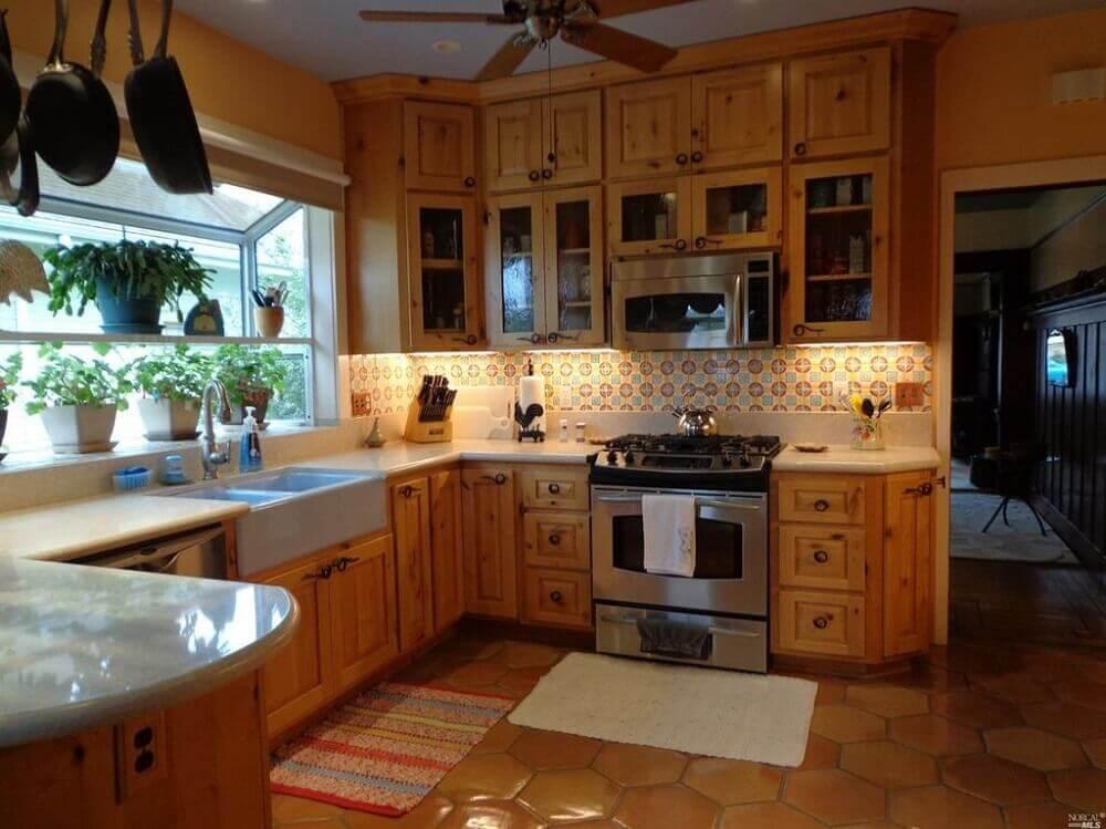 decoração de cozinha de madeira