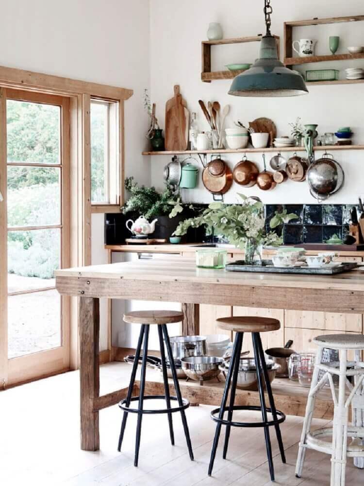 decoração de cozinha rústica