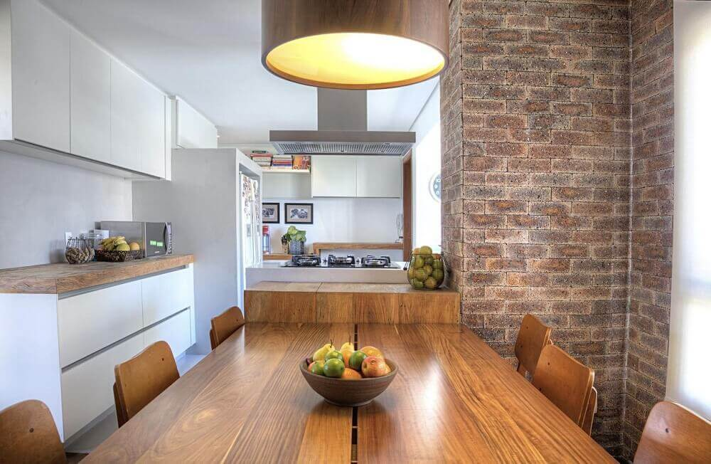 cozinha rústica clean