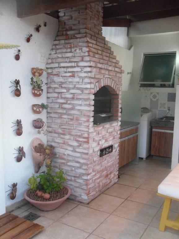 espaço gourmet com churrasqueira