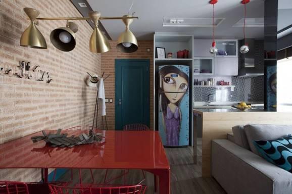 geladeira colorida