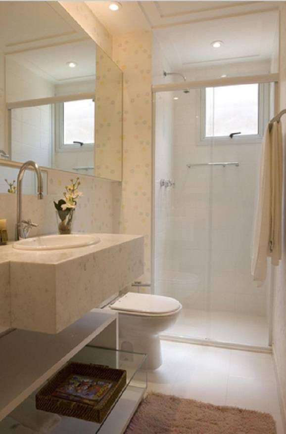 Modelos de banheiros pequenos dicas de como decorar - Papel para azulejos de bano ...