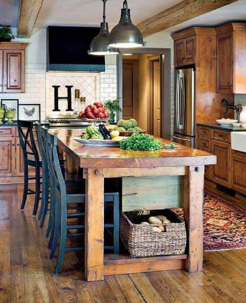 Cozinha R Stica Escolha Para Ambiente Agrad Vel