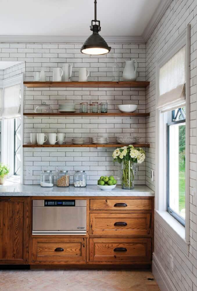 prateleiras para cozinha rústica