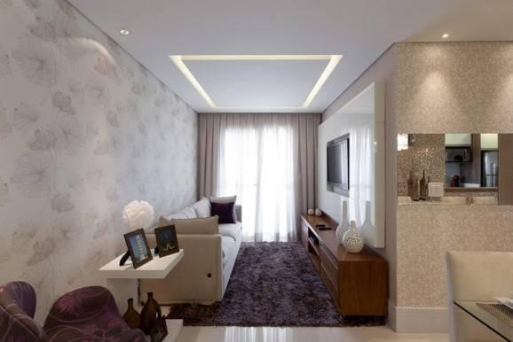 Decoracao De Sala Pequena Para Tv ~ Sala de TV pequena segue decoração minimalista