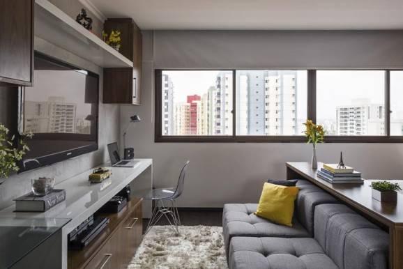 sala decorada pequena