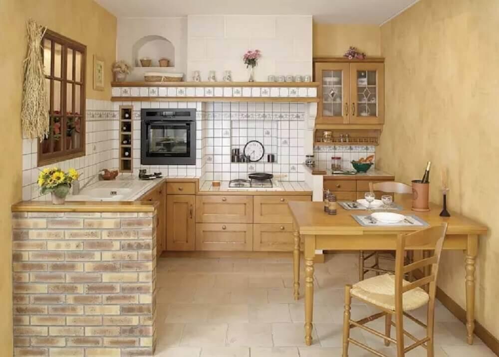 simples cozinha rústica