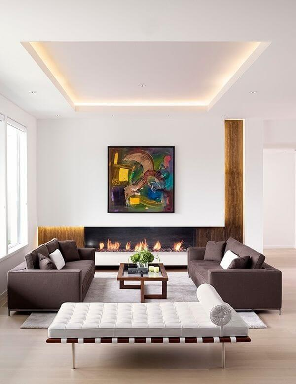 teto de gesso em sala de estar