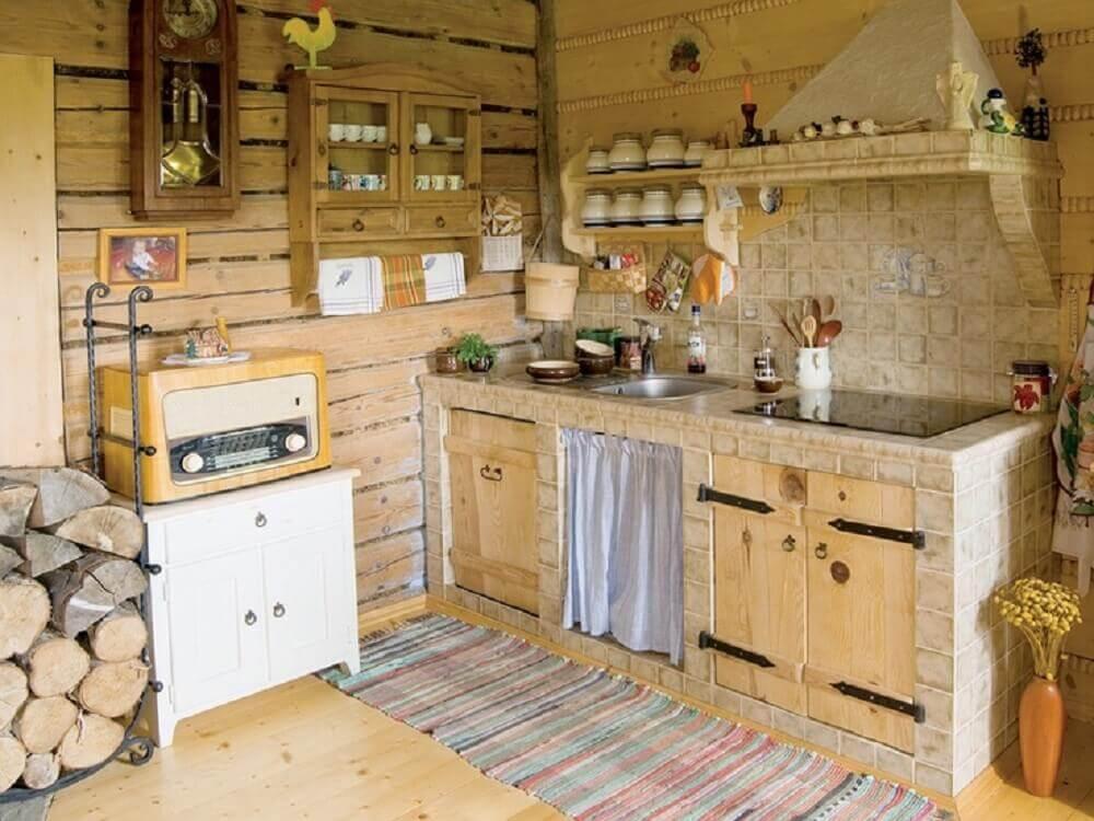 utensílios para cozinha rústica