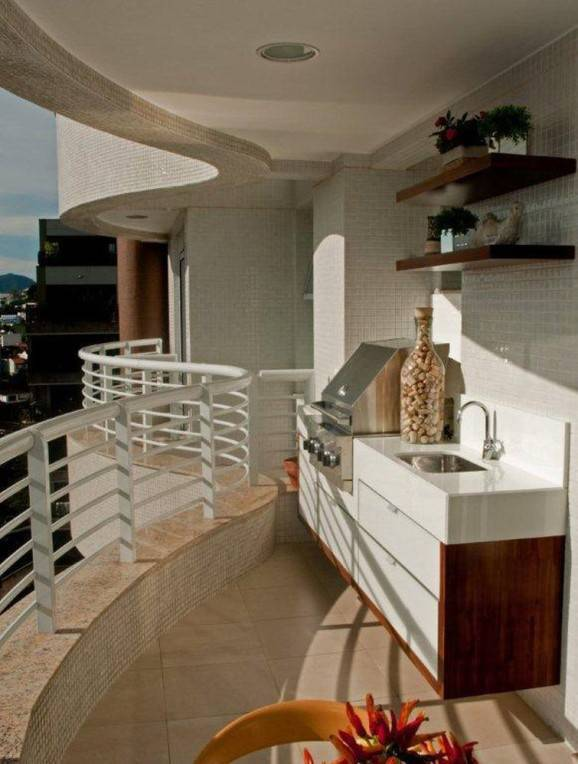 varanda com churrasqueira