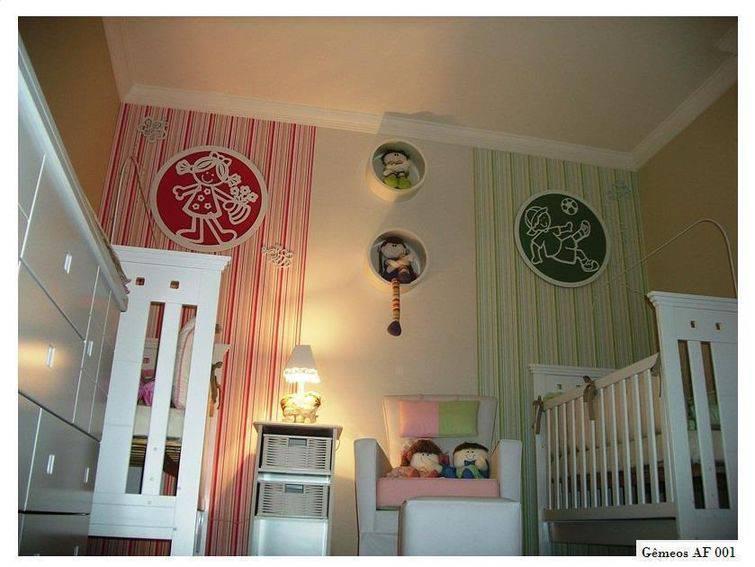 Como decorar o quarto para um menino e uma menina