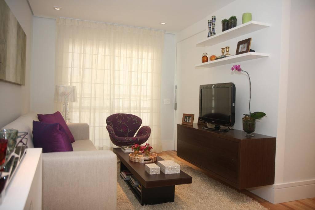 Decorar Uma Sala Pequena E Simples ~ Cortina e Persiana Como decorar uma sala pequena de apartamento