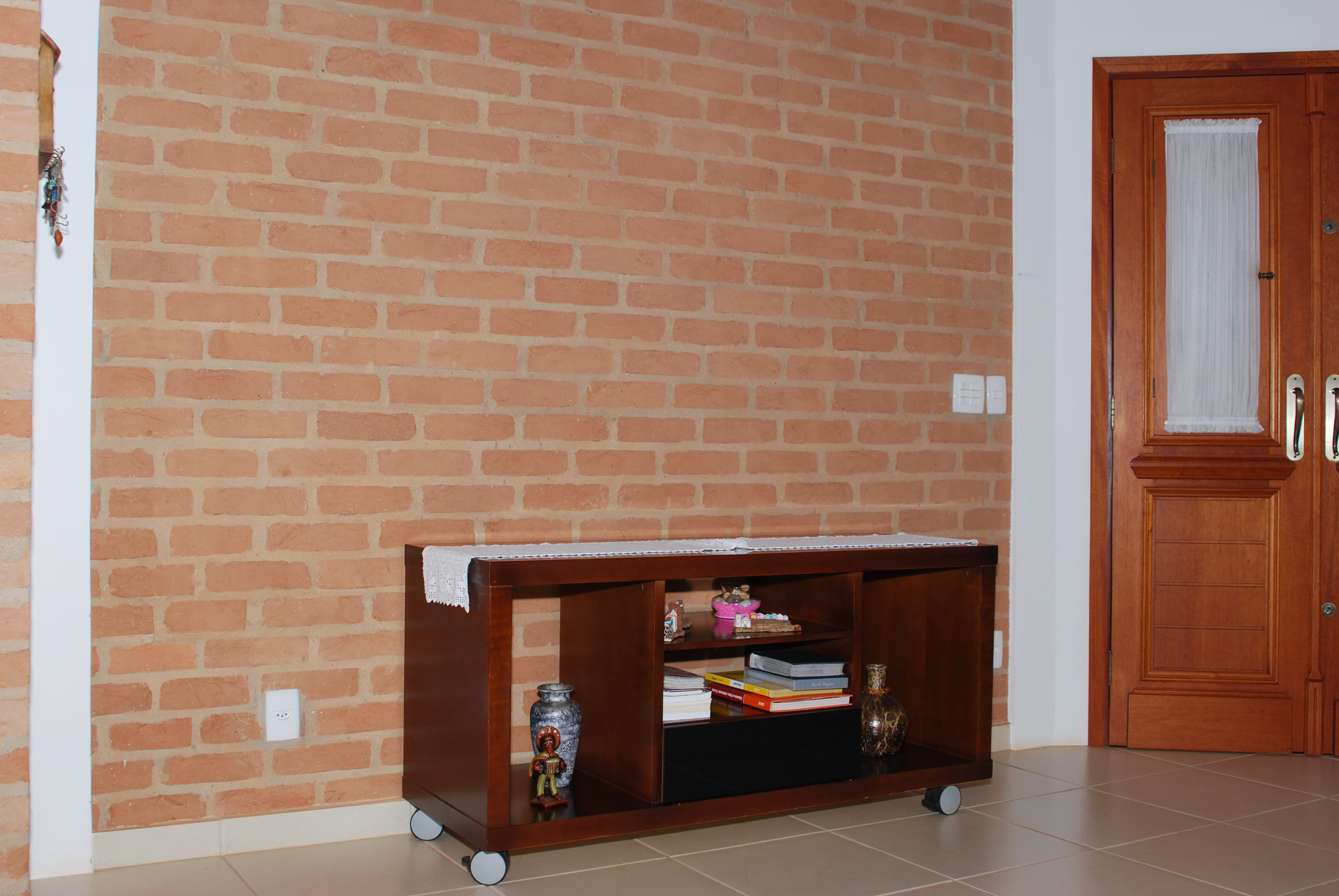 Cermica Para Parede De Sala Cozinha De Apoio Integrada Sala Para  -> Acabamento De Parede Para Sala
