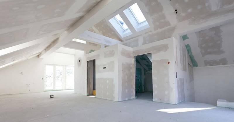 Parede de gesso de drywall