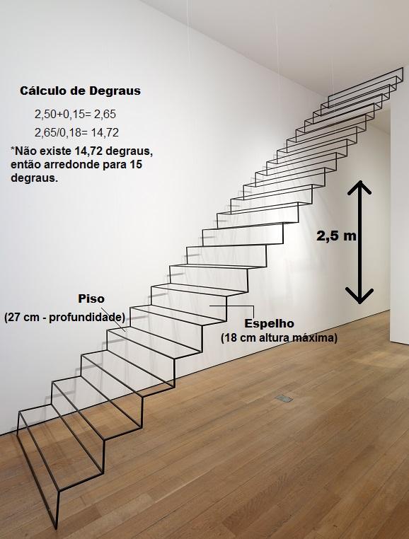 como construir escada