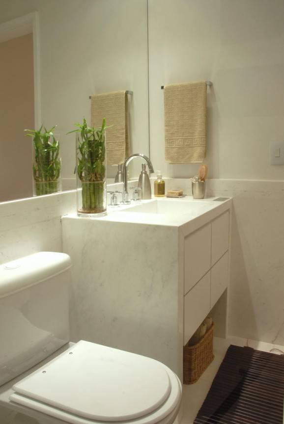 #474708 98 Banheiros Decorados com Eficiência e Cuidado 578x864 px banheiro pequeno decorado simples
