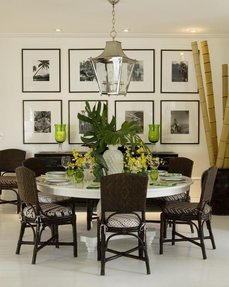 decoração de sala de jantar cadeiras de madeira