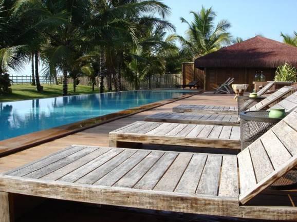 modelos de piscina com palmeiras frutíferas