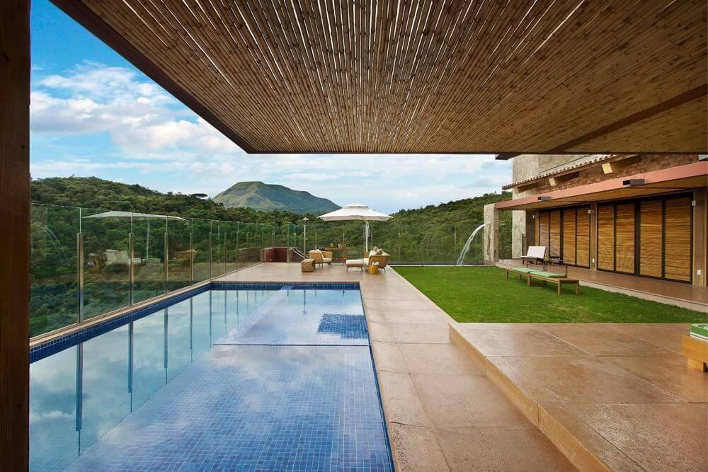 piscina de alvenaria cobertura de bambu david guerra 5739