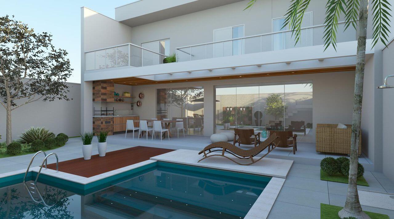 piscina de alvenaria com degraus espaco au 41823