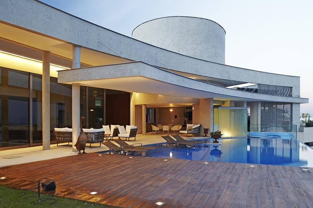 piscina de alvenaria com espelho dagua angela pinho 67698