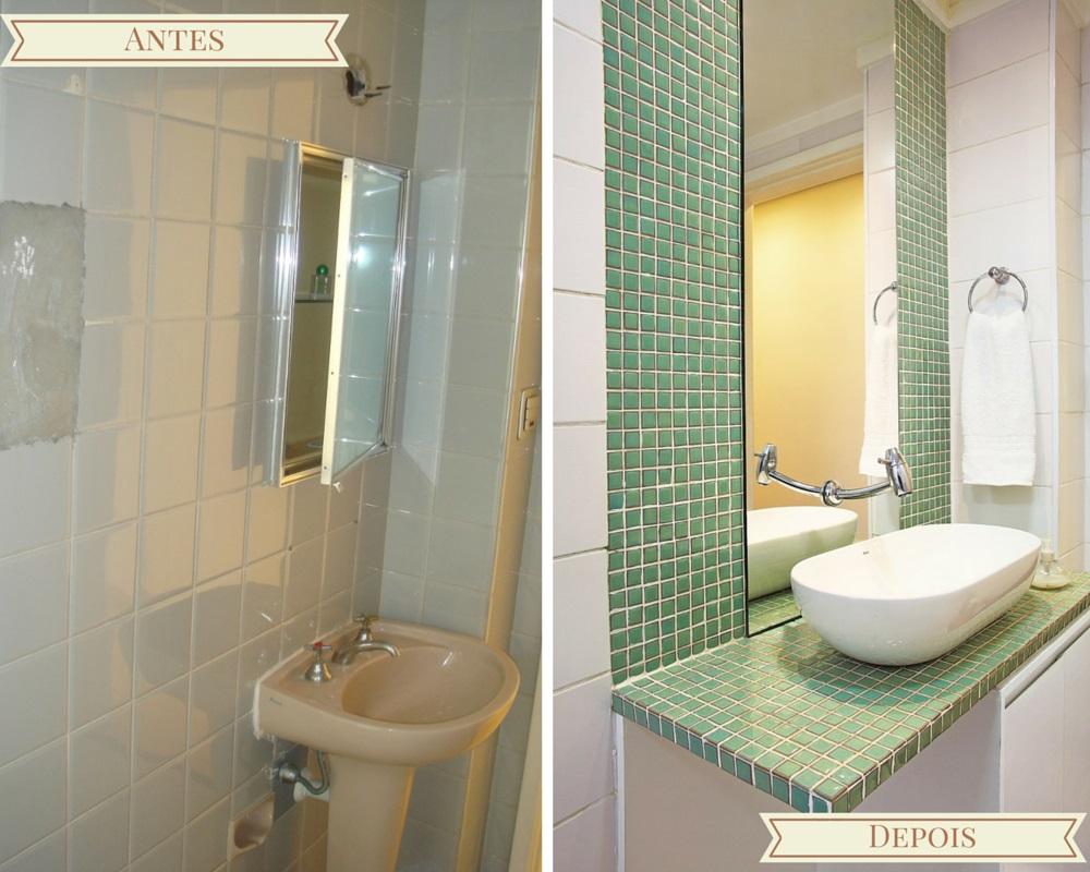Antes e depois decorar apartamento banheiro