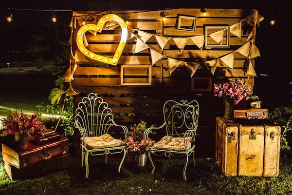 decoracao-vintage-pallet decoração com pallets em casamentos